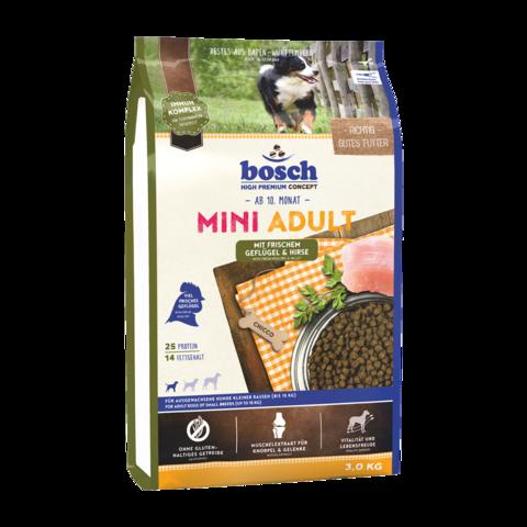 Bosch Mini Adult Сухой корм для собак мелких пород с птицей и просом