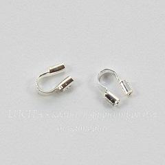 Защита ланки (тросика) от перетирания 4,5х4 мм (цвет - серебро), 10 штук