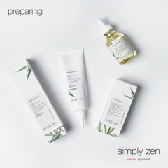 Очищающий скраб preparing pomade simply zen