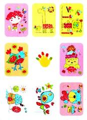 024-2363 Набор из 8 пальчиковых аппликаций