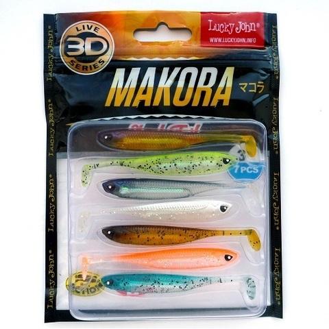 Виброхвост LJ 3D Series Makora Shad Tail 3.0in (7,6см), цвет MIX1, 7 шт.