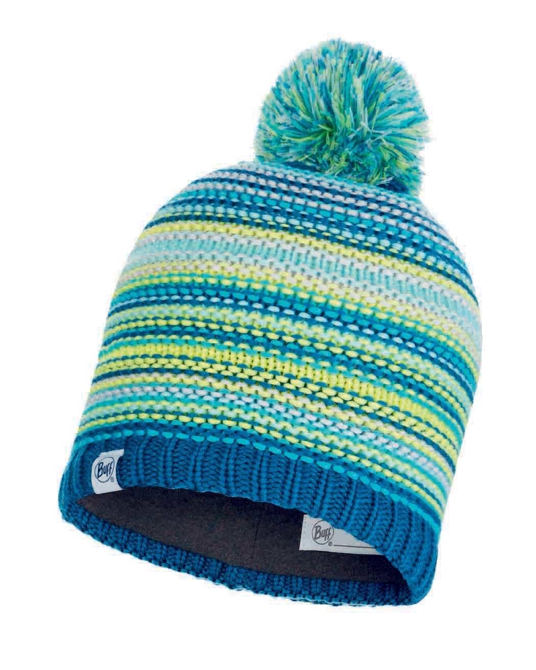 Детские шапки Вязаная шапка с флисовой подкладкой детская Buff Hat Knitted Polar Amity Turquoise Jr 113533.789.10.00.jpg