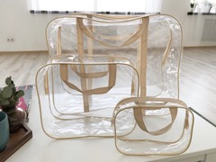 Прозрачная сумка в роддом с косметичкой