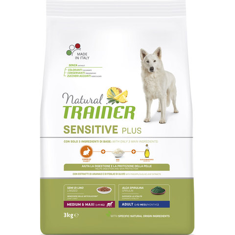 Сухой корм Natural Trainer Sensitive Plus Adult Medium/Maxi Rabbit
