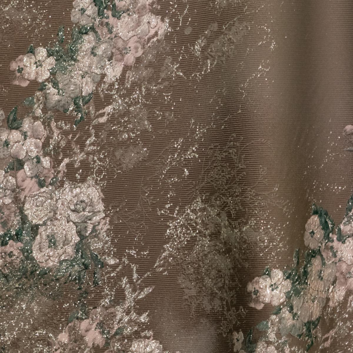 Дымчатый жаккард античные розы