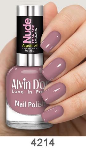 Alvin D`or Лак для ногтей Гель NUDE  тон 4214