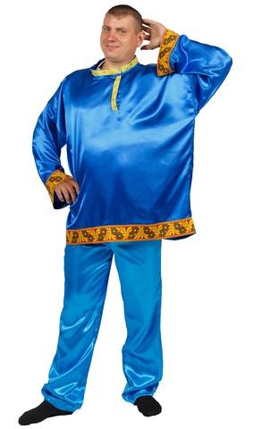 Рубаха-косоворотка синяя