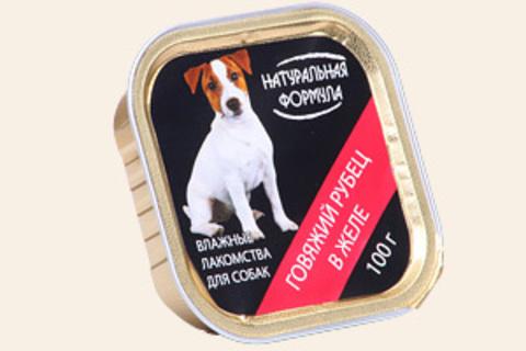 Натуральная формула Рубец говяжий в желе, 100г (упаковка 15 банок)
