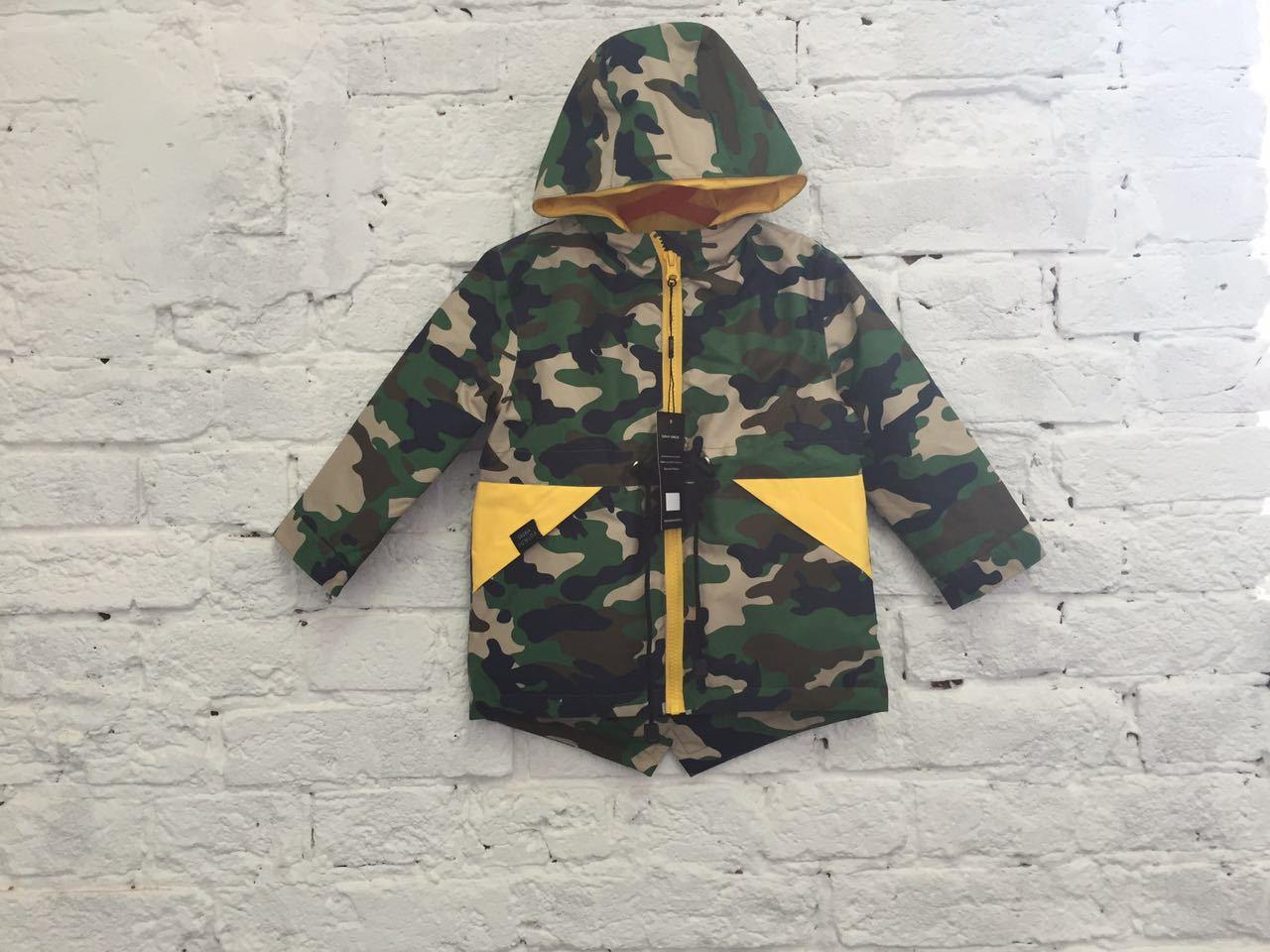 парка куртка детская весенняя теплая SASHA JUNIOR цвет милитари1