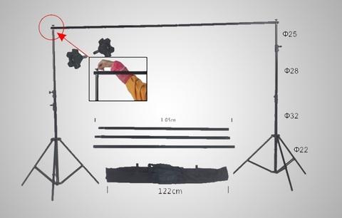 Система 2.6х3.3м для установки фона NiceFoto S-26