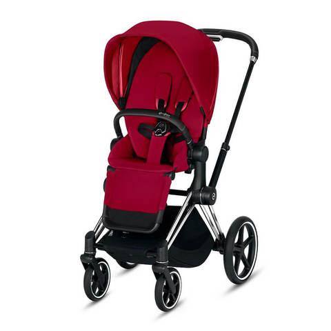 Прогулочная коляска Cybex Priam III True Red шасси Chrome/Black