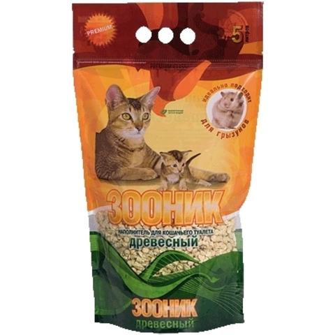 Зооник - древесный наполнитель для кошачьего туалета