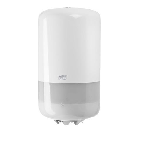 Диспенсер для рулонных полотенец с центральной вытяжкой Tork Elevation Mini M1 пластиковый белый (код производителя 558000)