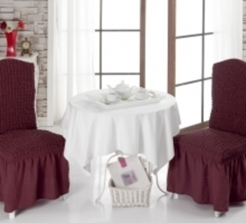 Чехлы на стулья (2 шт) цвет бордовый