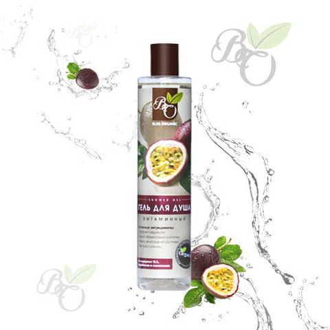 Натуральный гель для душа «Витаминный», Bliss organic 350 мл