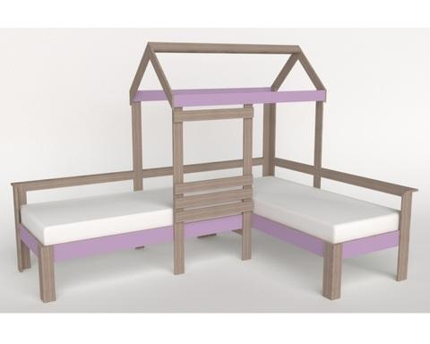 Кровать АВАРА-2 со стенкой левая