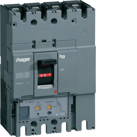 Выключатель автоматический, h630, электронный расцепитель, LSI, 4P4D, Icu=50kA при Ue=415В, Ir=630-250A, Ue до 690В 50/60 Гц