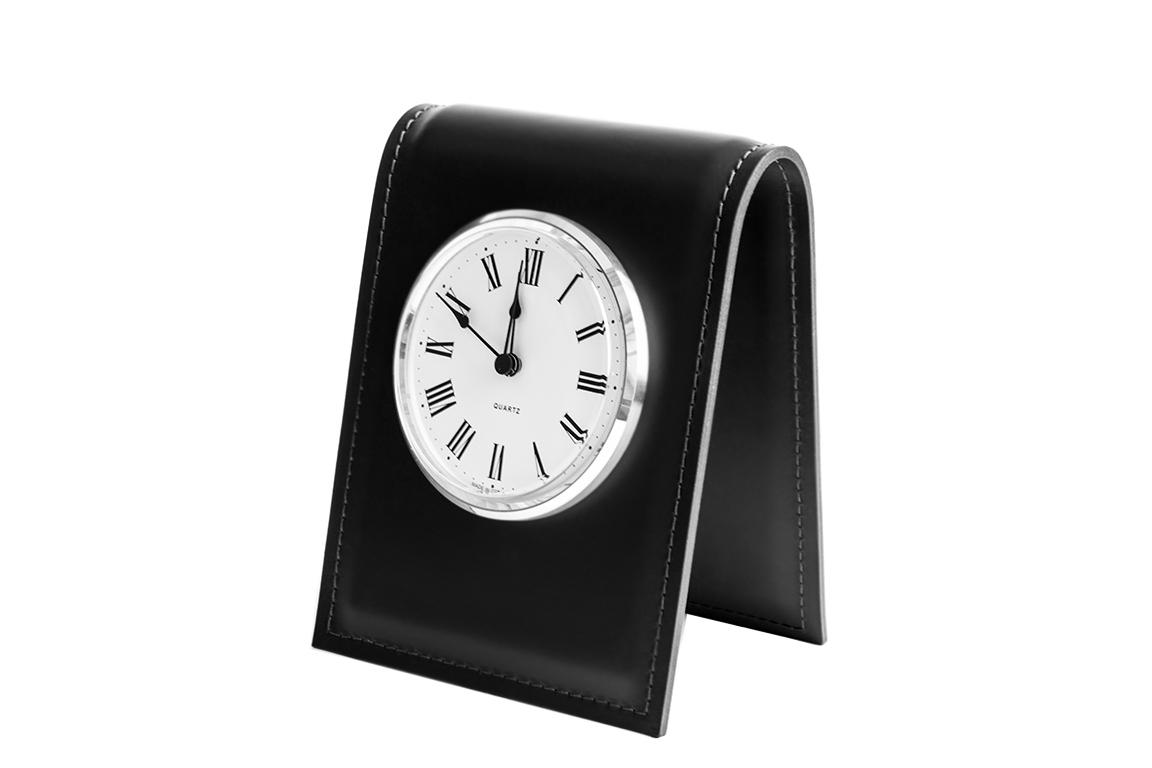 Часы D103 с циферблатом Buvardo из кожи цвет ЧЕРНЫЙ