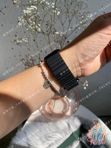 Ремешок Apple watch 42/44mm Leather Loop /black/