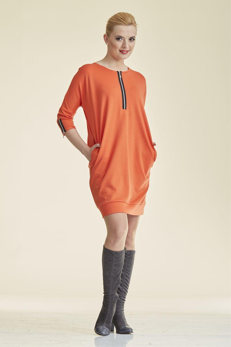 Туника для беременных и кормящих 07236 оранжевый