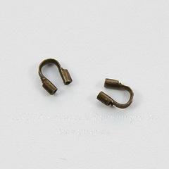 Защита ланки (тросика) от перетирания 4,5х4 мм (цвет - бронза), 10 штук