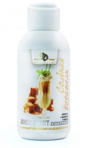 Интимный гель-смазка JUICY FRUIT с ароматом солёной карамели - 100 мл.