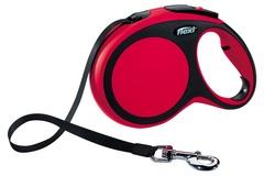 Поводок-рулетка Flexi New Comfort L (до 60 кг) лента 5 м черный/красный