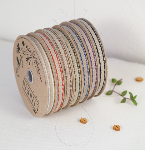 Льняная тесьма 10 мм, 7 цветов
