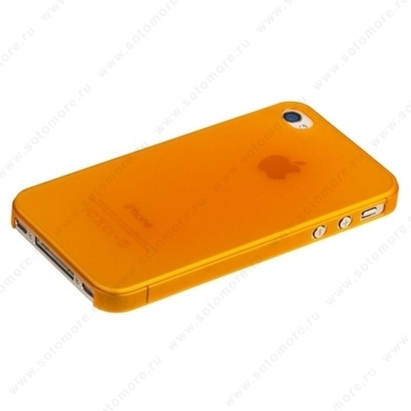 Накладка Sotomore супертонкая для iPhone 4s/ 4 оранжевая