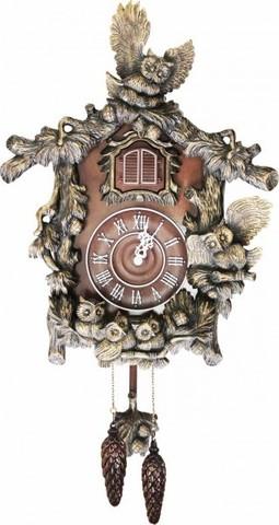 Часы с кукушкой Михаил Москвин Совы с совятами (патина)