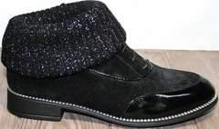Носки туфли женские Kluchini 5161 k255 Black