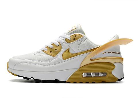 Nike Air Max 90 FlyEase 'White/Metallic Gold'