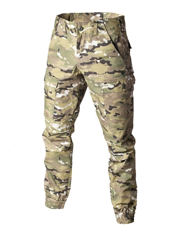 Camouflage military trousers