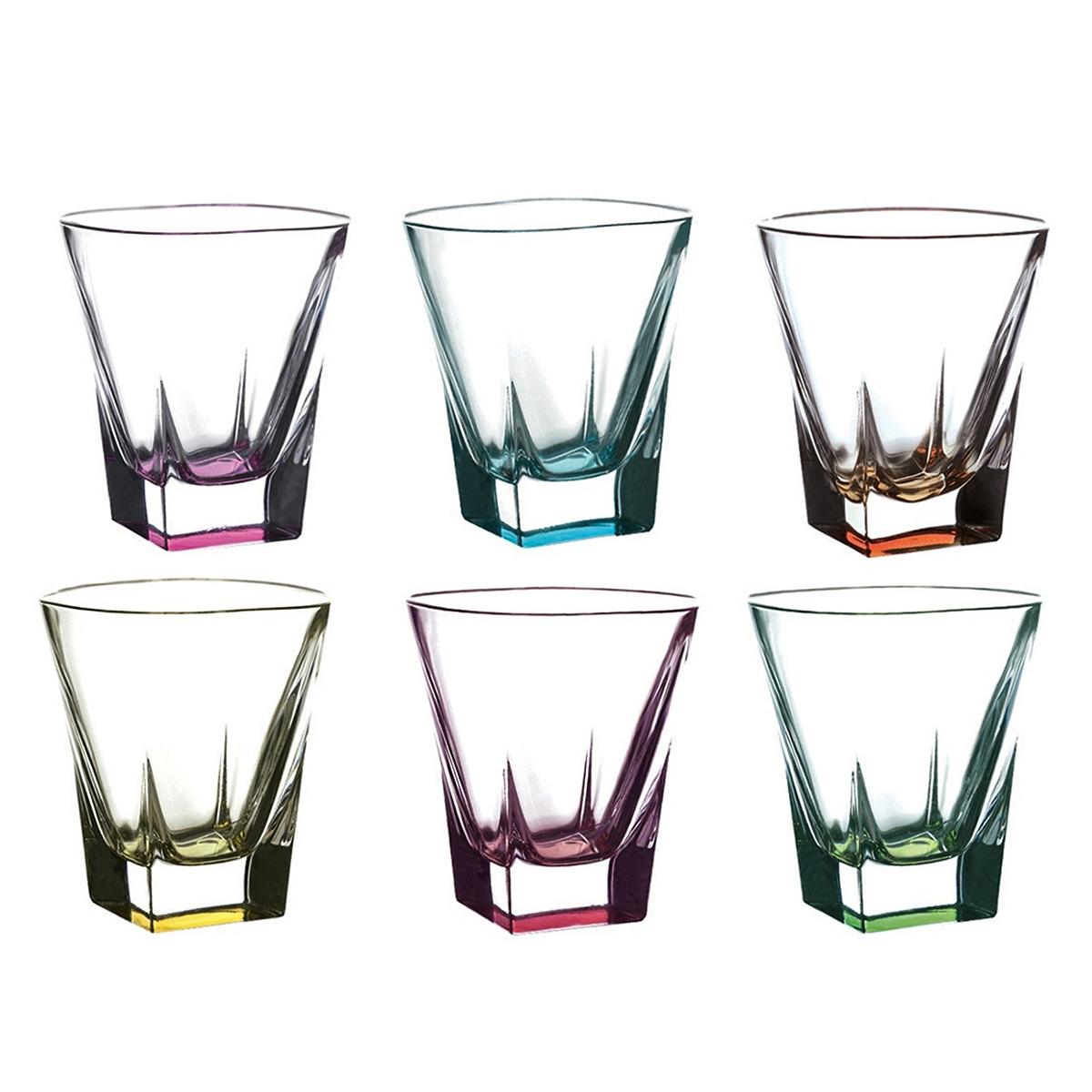 Набор стаканов для виски RCR Fusion Цветные 270 мл, 6 шт недорого
