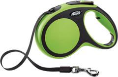 Поводок-рулетка Flexi New Comfort М (до 25 кг) лента 5 м черный/зеленый