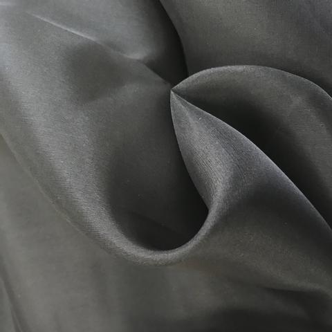 Органза шелковая черная 1111
