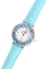 Голубые женские наручные часы с голубым циферблатом