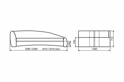 Кровать ФОРМУЛА  Santorini 0422\ИК Ecostyle 09 orange\вышивка Supercar L