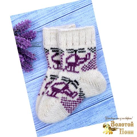 Носочки детские шерсть (1-2) 191015-Н-008