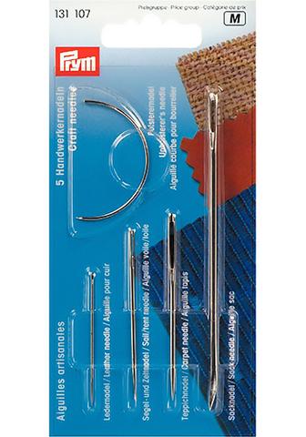 Набор ремесленных игл для кожи, парусины, ковров, мешковины и мебельной обивки 5 шт (арт 131107)