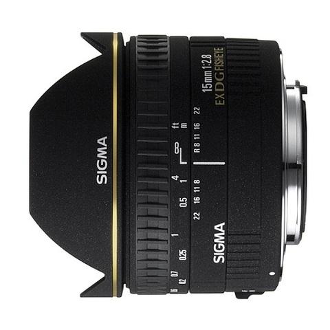 Объектив Sigma AF 15mm f/2.8 EX DG Diagonal Fisheye Black для Canon