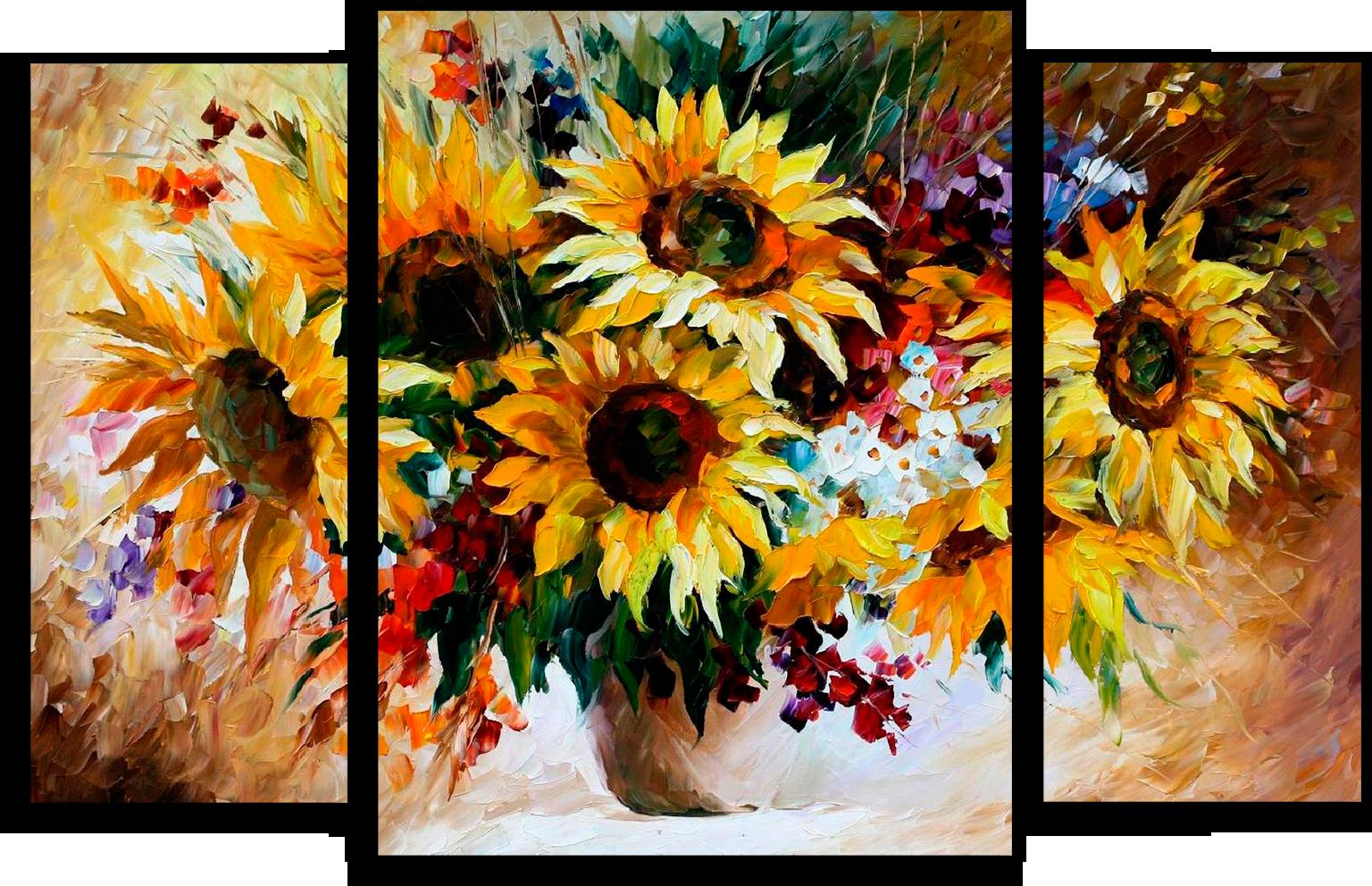 """Цветы Модульная картина """"Яркий натюрморт"""" М433.png"""