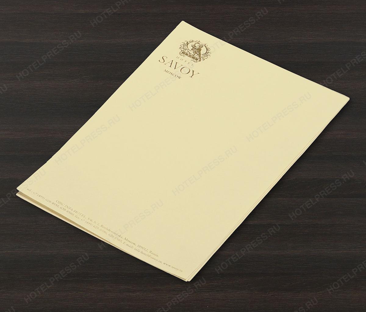 Блокнот А7 (73 х 105 мм) на тонированной бумаге с логотипом