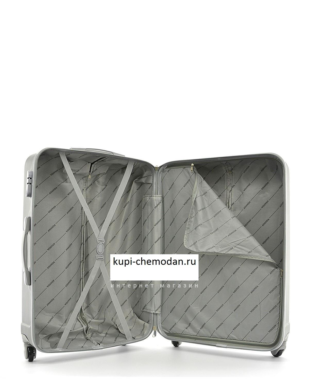 Чемодан Ananda 533 Серебро ручная кладь (S)