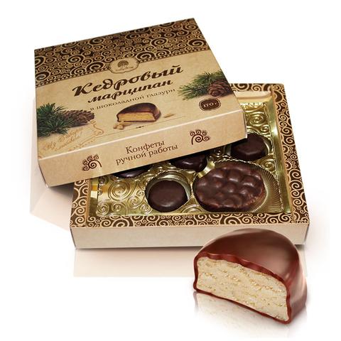 Конфеты Марципан кедровый в шоколадной глазури Сибирский кедр 170 г