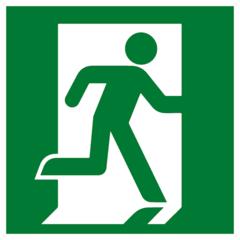 Е 01-02 Эвакуационный знак - Выход здесь правосторонний