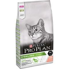 Purina Pro Plan Sterilised OptiRenal для стерилизованных кошек и кастрированных котов для поддержания здоровья почек, лосось