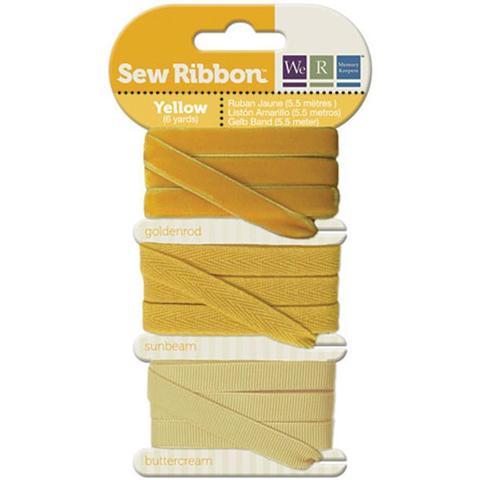 Набор лент. We R Memory Keepers Sew Ribbon - 5,5м- Yellow