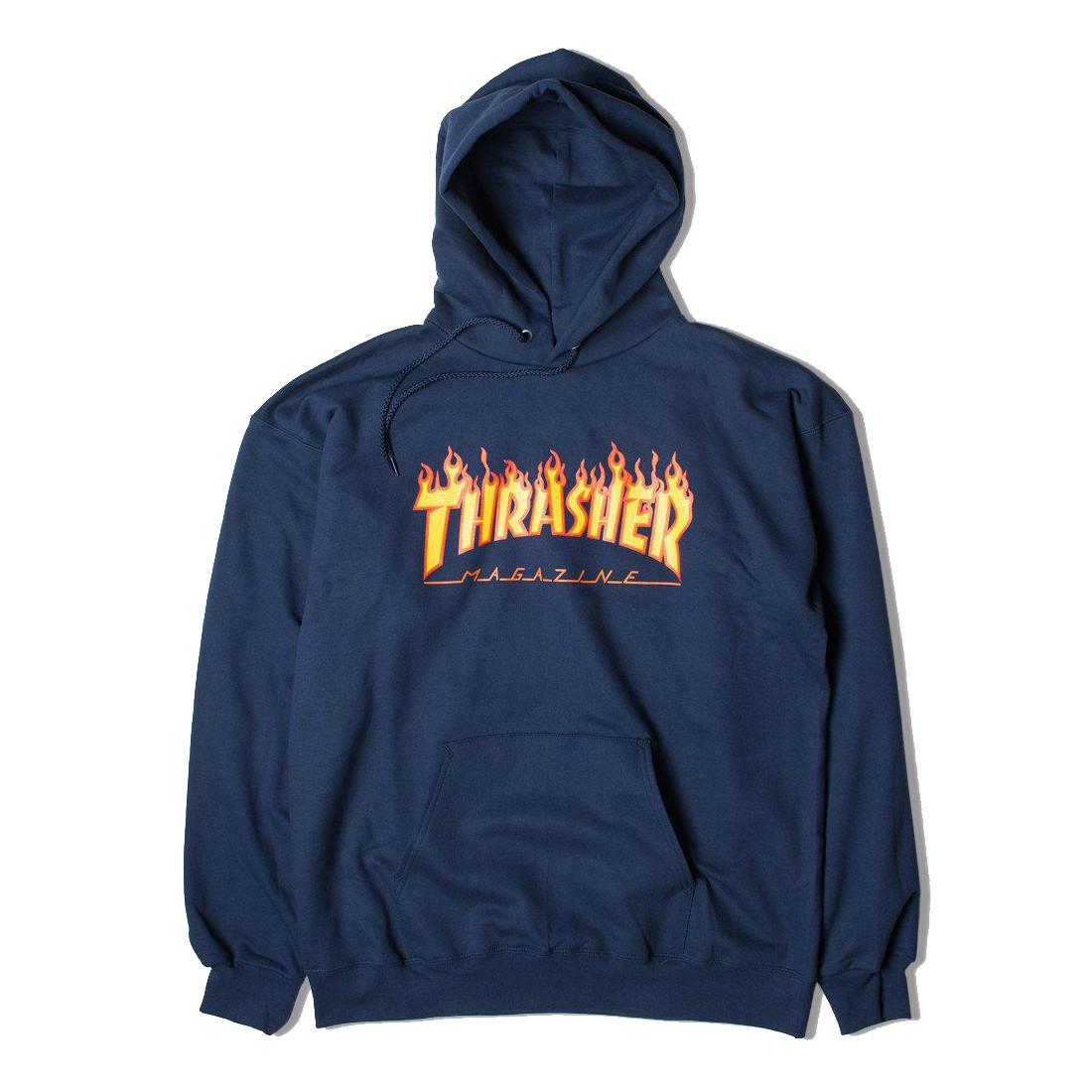 Толстовка THRASHER Flame Hood Navy