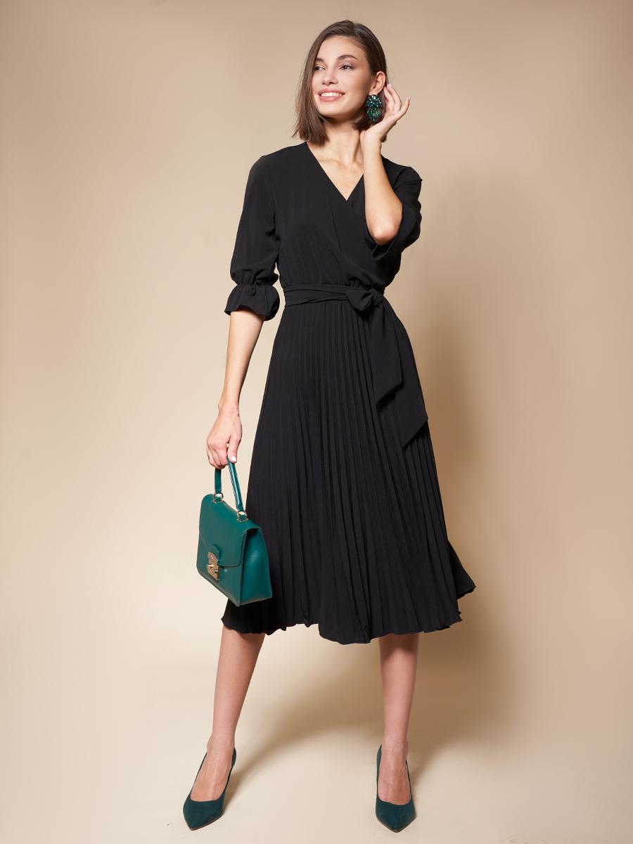 """Платье с плиссированной юбкой """"Black"""""""